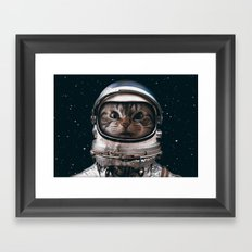 Space Catet Framed Art Print