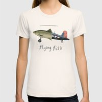 flying fish Womens Fitted Tee Natural SMALL