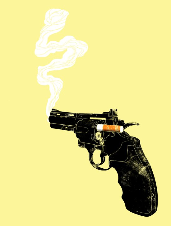 Smoking Gun Art Print