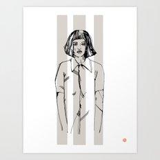 First Hello No.1 (grey) Art Print