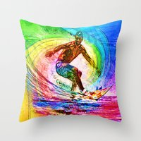 Surf Style Throw Pillow