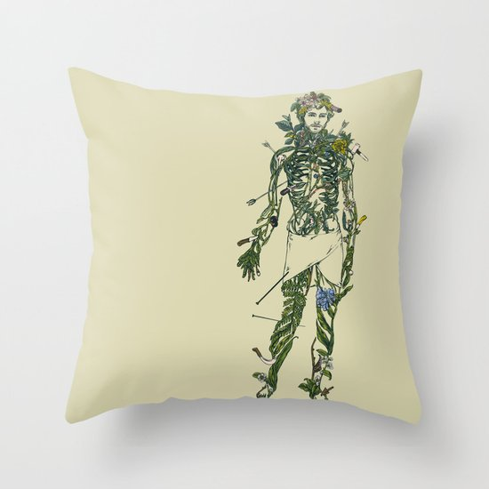 Wound Man Throw Pillow
