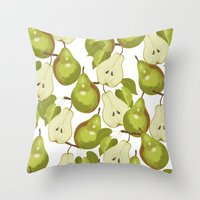 Pears Pattern Throw Pillow