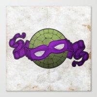 the purple turtle Canvas Print