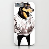 iPhone & iPod Case featuring Bad Dog by withapencilinhand