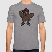 Owl Mens Fitted Tee Athletic Grey SMALL