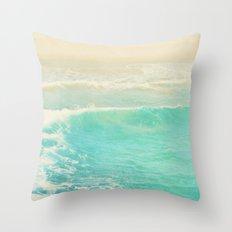 beach ocean wave. Surge. Hermosa Beach photograph Throw Pillow