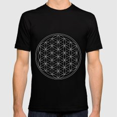 Pure Energy The Flower of Life  SMALL Mens Fitted Tee Black
