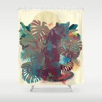 Panther Square Shower Curtain