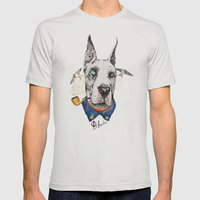 Mr. Great Dane Mens Fitted Tee Silver SMALL