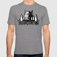 Winterfell Direwolves Mens Fitted Tee Tri-Grey SMALL