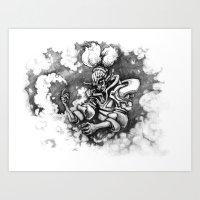 Misty-Wizard! Art Print