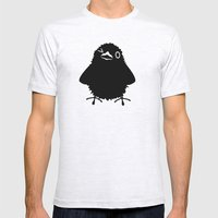 Baby Raven, Wink Mens Fitted Tee Ash Grey SMALL