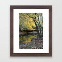 Autumn River Framed Art Print