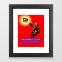 You found the Magical Box! Framed Art Print