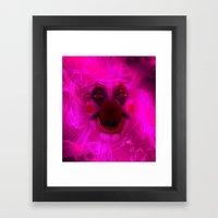 Cotton Candy Clown Framed Art Print
