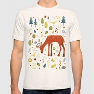 Oh Deer Mens Fitted Tee Natural SMALL