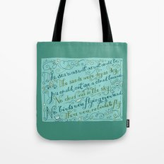 The Walrus and the Carpenter, Stanza 3 Tote Bag