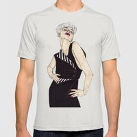 Penthouse & Pavements 1 Mens Fitted Tee Silver SMALL