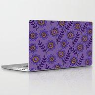 Doodle Flower 4 Laptop & iPad Skin