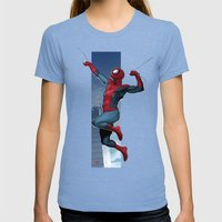 Spidey Womens Fitted Tee Tri-Blue SMALL