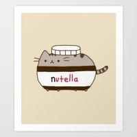 Nutella Cat Art Print