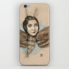 MOTH LADY iPhone & iPod Skin