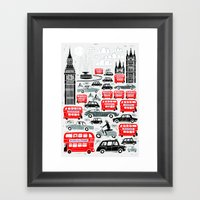 London Traffic Framed Art Print