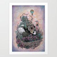 Land Of The Sleeping Gia… Art Print