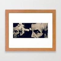 ABE LINCOLN'S HANDSOME HEADSHOT Framed Art Print