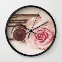 Rose & The Camera  Wall Clock