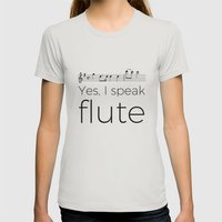 Do you speak flute? Womens Fitted Tee Silver SMALL