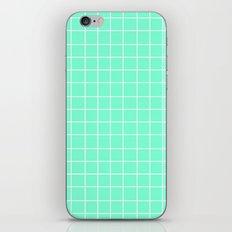 Grid (White/Aquamarine) iPhone & iPod Skin