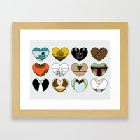 Character Hearts Framed Art Print