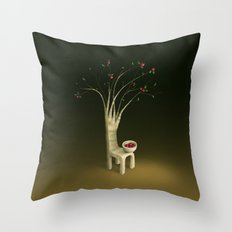 Strawberry Guava Tree Throw Pillow