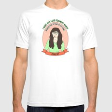 Jessica Day / New Girl Print White Mens Fitted Tee SMALL
