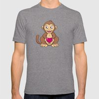 Monkey Love Mens Fitted Tee Tri-Grey SMALL