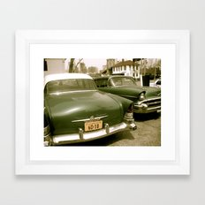 Vintage Cars in Brooklyn Framed Art Print