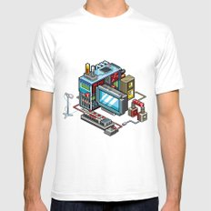 8bit computer Mens Fitted Tee White SMALL