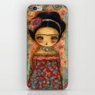 Frida In A Red And Teal … iPhone & iPod Skin