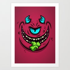 HORN MONSTER Art Print