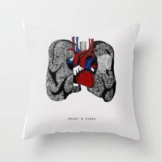 Heart&Lungs Throw Pillow