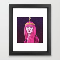 Bubblegum Princess Framed Art Print