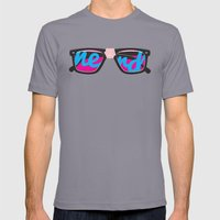 Nerd Mens Fitted Tee Slate SMALL