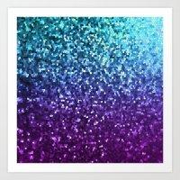 Mosaic Sparkley Texture G198 Art Print