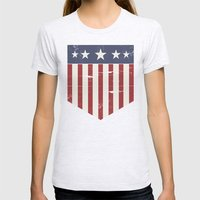 Flag Womens Fitted Tee Ash Grey SMALL