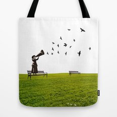 singing birds Tote Bag