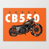Real Shit Cafe Racer Canvas Print