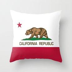 California Flag - High Q… Throw Pillow