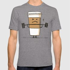 Strong Coffee Mens Fitted Tee Tri-Grey SMALL